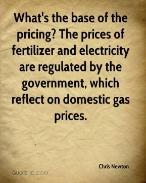 Chris Newton - What's the base of the pricing? The prices of fertilizer and electricity are regulated by the government, which reflect on domestic gas prices.