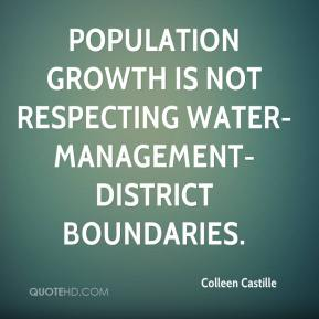 Population growth is not respecting water-management-district boundaries.