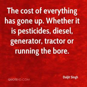 Daljit Singh - The cost of everything has gone up. Whether it is pesticides, diesel, generator, tractor or running the bore.