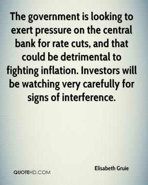 Elisabeth Gruie - The government is looking to exert pressure on the central bank for rate cuts, and that could be detrimental to fighting inflation. Investors will be watching very carefully for signs of interference.