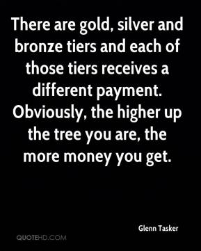 Glenn Tasker - There are gold, silver and bronze tiers and each of those tiers receives a different payment. Obviously, the higher up the tree you are, the more money you get.