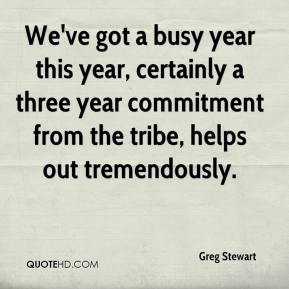 Greg Stewart - We've got a busy year this year, certainly a three year commitment from the tribe, helps out tremendously.