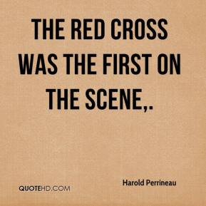Harold Perrineau - The Red Cross was the first on the scene.