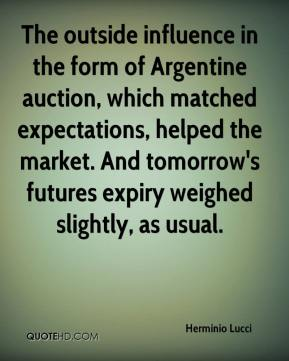 The outside influence in the form of Argentine auction, which matched expectations, helped the market. And tomorrow's futures expiry weighed slightly, as usual.