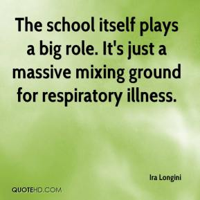 Ira Longini - The school itself plays a big role. It's just a massive mixing ground for respiratory illness.