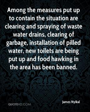 James Nyikal - Among the measures put up to contain the situation are clearing and spraying of waste water drains, clearing of garbage, installation of pilled water, new toilets are being put up and food hawking in the area has been banned.