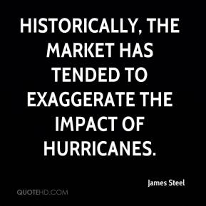 James Steel - Historically, the market has tended to exaggerate the impact of hurricanes.