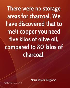 Maria Rosaria Belgiorno  - There were no storage areas for charcoal. We have discovered that to melt copper you need five kilos of olive oil, compared to 80 kilos of charcoal.