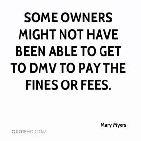 Some owners might not have been able to get to DMV to pay the fines or fees.