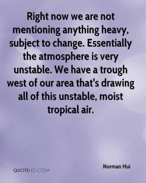 Right now we are not mentioning anything heavy, subject to change. Essentially the atmosphere is very unstable. We have a trough west of our area that's drawing all of this unstable, moist tropical air.