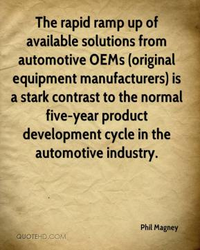 Phil Magney  - The rapid ramp up of available solutions from automotive OEMs (original equipment manufacturers) is a stark contrast to the normal five-year product development cycle in the automotive industry.