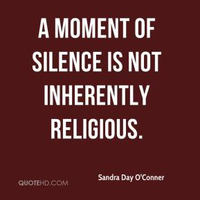 A moment of silence is not inherently religious.