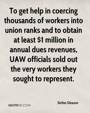 Stefan Gleason  - To get help in coercing thousands of workers into union ranks and to obtain at least $1 million in annual dues revenues, UAW officials sold out the very workers they sought to represent.