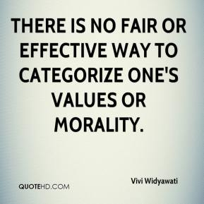There is no fair or effective way to categorize one's values or morality.
