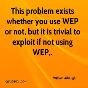 William Arbaugh  - This problem exists whether you use WEP or not, but it is trivial to exploit if not using WEP.