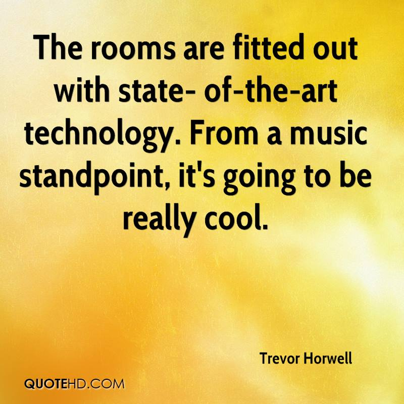 The rooms are fitted out with state- of-the-art technology. From a music standpoint, it's going to be really cool.