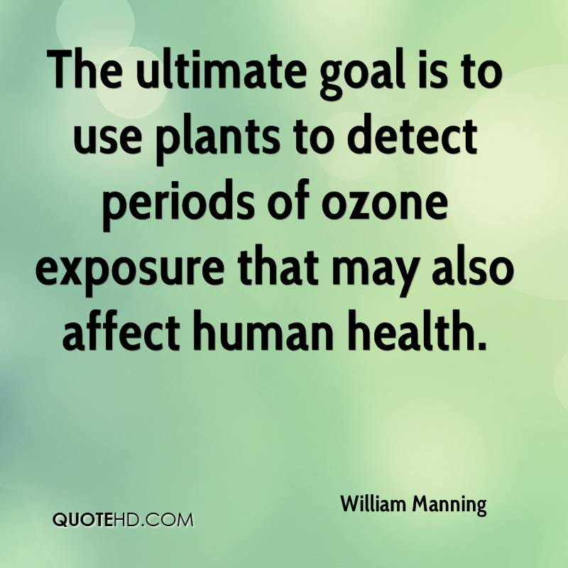 The ultimate goal is to use plants to detect periods of ozone exposure that may also affect human health.