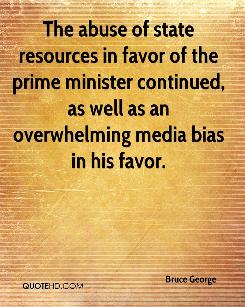 The abuse of state resources in favor of the prime minister continued, as well as an overwhelming media bias in his favor.
