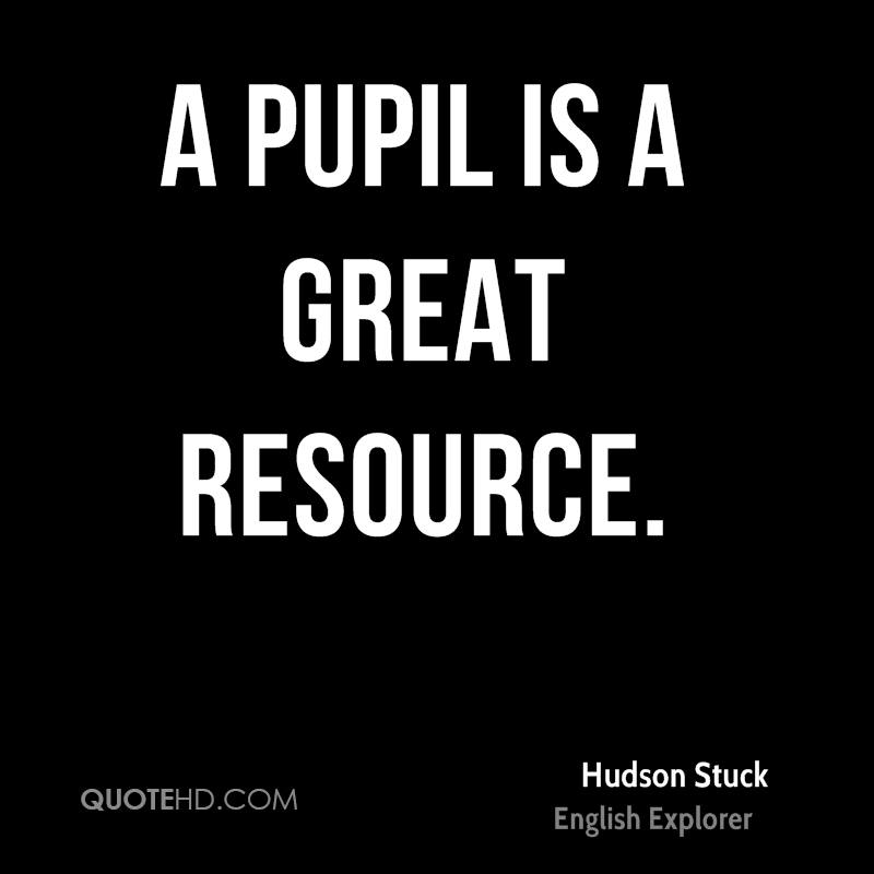A pupil is a great resource.