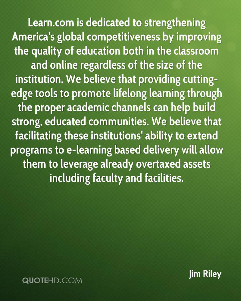 Online education quotes - Jim Riley Life Quotes