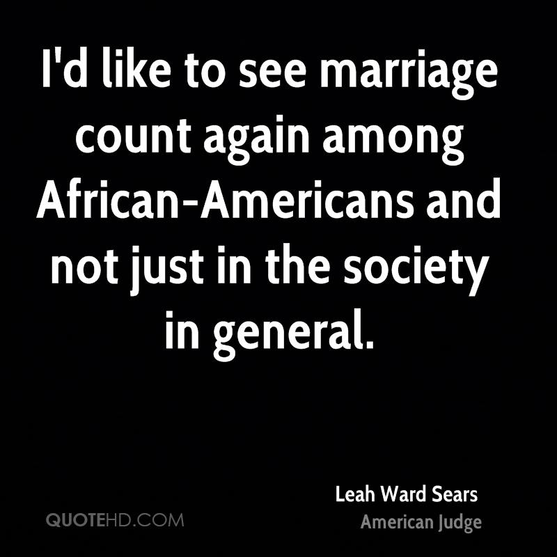 african americans marriage matters A teachable moment with legal sources: marriage matters and unruly african american women understandably, marriage is a highly contested topic in light of.