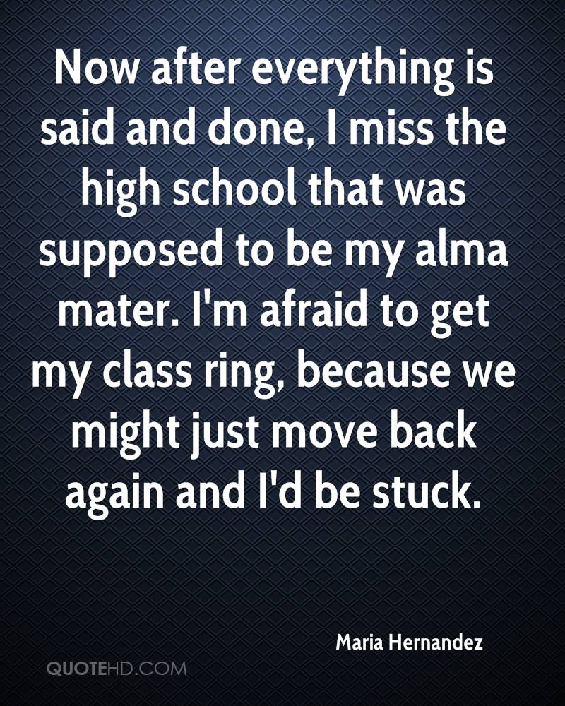 Quotes Miss High School