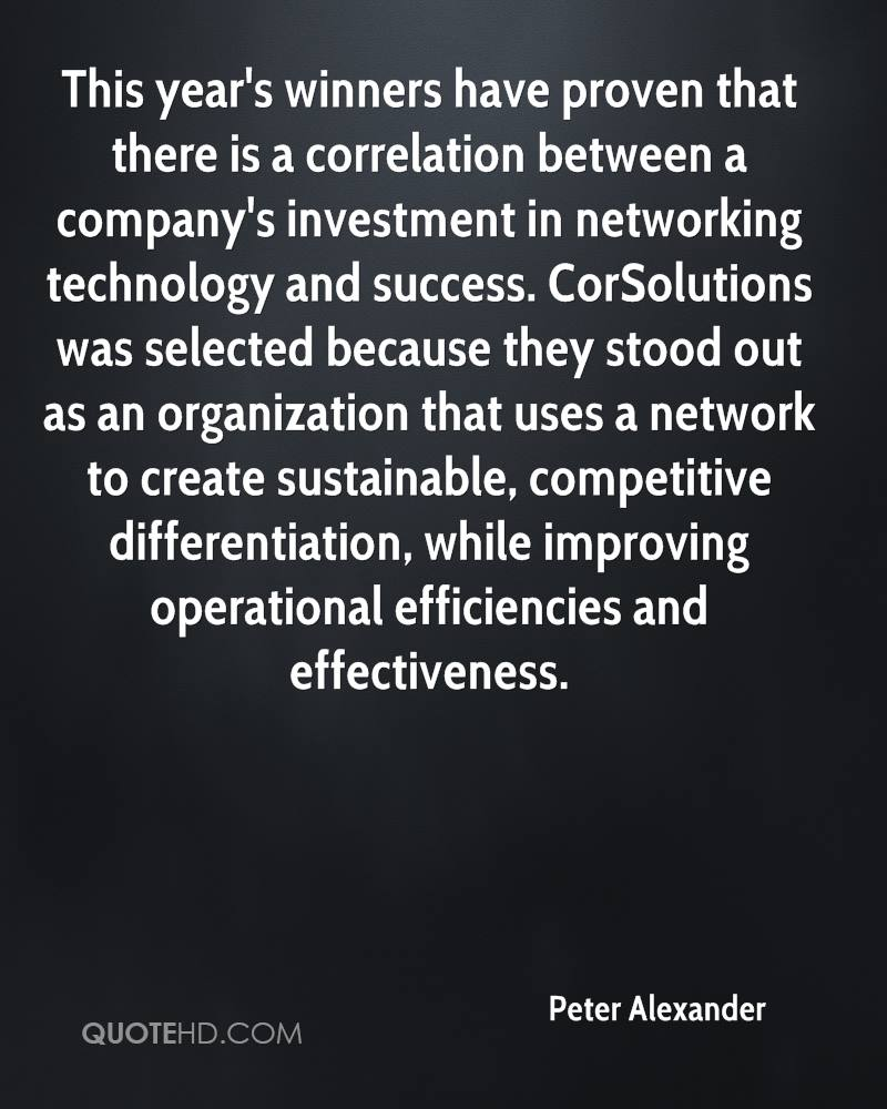 This year's winners have proven that there is a correlation between a company's investment in networking technology and success. CorSolutions was selected because they stood out as an organization that uses a network to create sustainable, competitive differentiation, while improving operational efficiencies and effectiveness.