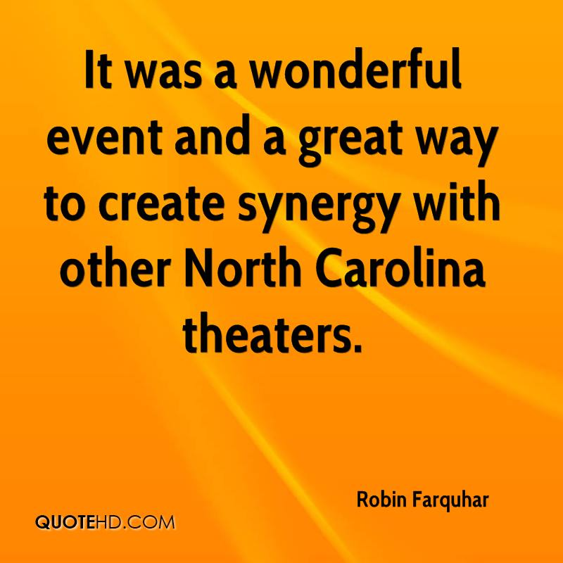 It was a wonderful event and a great way to create synergy with other North Carolina theaters.