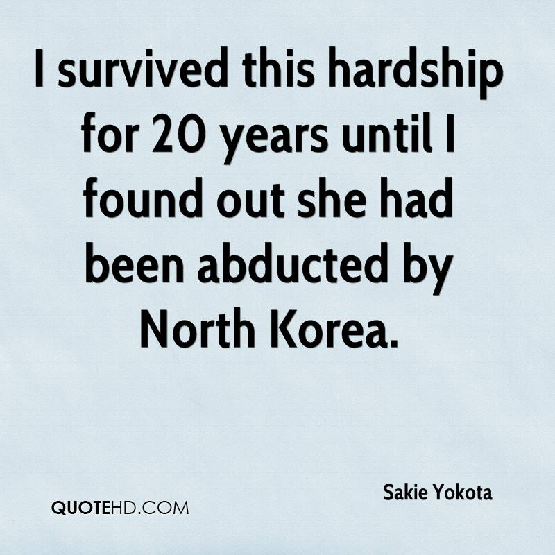 I survived this hardship for 20 years until I found out she had been abducted by North Korea.