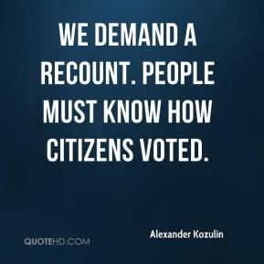 Alexander Kozulin - We demand a recount. People must know how citizens voted.
