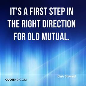 It's a first step in the right direction for Old Mutual.