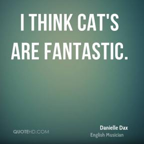 I think cat's are fantastic.
