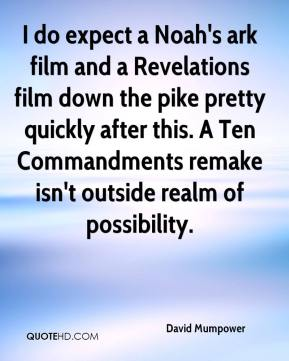 David Mumpower - I do expect a Noah's ark film and a Revelations film down the pike pretty quickly after this. A Ten Commandments remake isn't outside realm of possibility.
