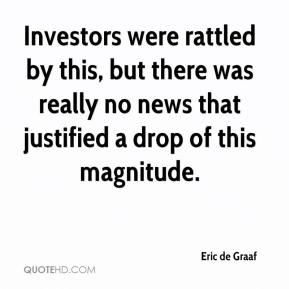 Eric de Graaf - Investors were rattled by this, but there was really no news that justified a drop of this magnitude.