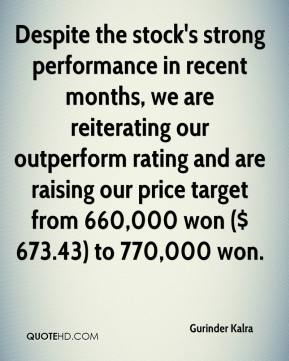 Despite the stock's strong performance in recent months, we are reiterating our outperform rating and are raising our price target from 660,000 won ($ 673.43) to 770,000 won.