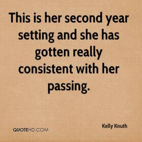 Kelly Knuth  - This is her second year setting and she has gotten really consistent with her passing.