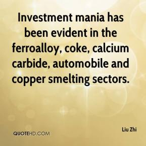 Investment mania has been evident in the ferroalloy, coke, calcium carbide, automobile and copper smelting sectors.