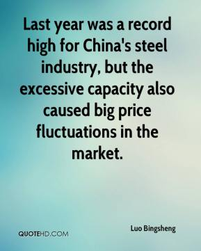 Luo Bingsheng  - Last year was a record high for China's steel industry, but the excessive capacity also caused big price fluctuations in the market.