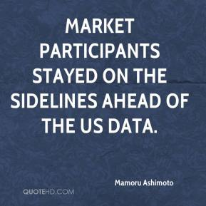 Mamoru Ashimoto  - Market participants stayed on the sidelines ahead of the US data.