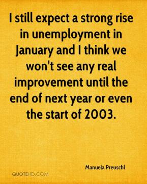 Manuela Preuschl  - I still expect a strong rise in unemployment in January and I think we won't see any real improvement until the end of next year or even the start of 2003.