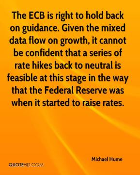 Michael Hume  - The ECB is right to hold back on guidance. Given the mixed data flow on growth, it cannot be confident that a series of rate hikes back to neutral is feasible at this stage in the way that the Federal Reserve was when it started to raise rates.