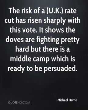 Michael Hume  - The risk of a (U.K.) rate cut has risen sharply with this vote. It shows the doves are fighting pretty hard but there is a middle camp which is ready to be persuaded.