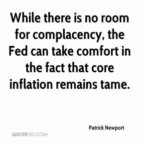 Patrick Newport  - While there is no room for complacency, the Fed can take comfort in the fact that core inflation remains tame.