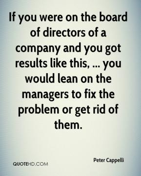 Peter Cappelli  - If you were on the board of directors of a company and you got results like this, ... you would lean on the managers to fix the problem or get rid of them.