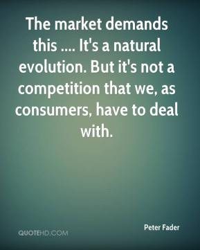 The market demands this .... It's a natural evolution. But it's not a competition that we, as consumers, have to deal with.
