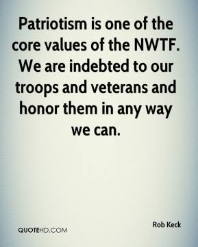 Patriotism is one of the core values of the NWTF. We are indebted to our troops and veterans and honor them in any way we can.