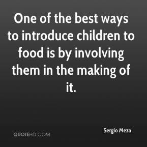 One of the best ways to introduce children to food is by involving them in the making of it.