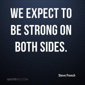 We expect to be strong on both sides.