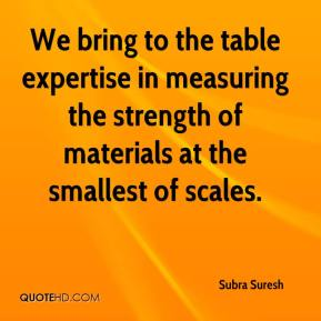 We bring to the table expertise in measuring the strength of materials at the smallest of scales.