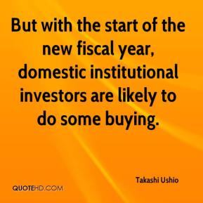 But with the start of the new fiscal year, domestic institutional investors are likely to do some buying.